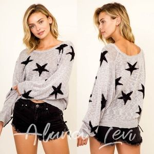 Gray Star 🌟 Slouchy Sweater